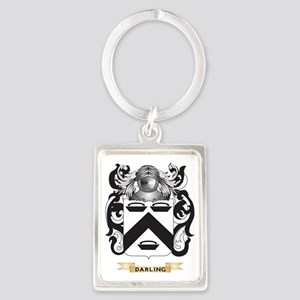 Darling Coat of Arms Portrait Keychain