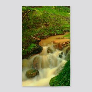 Stream in the forest 3'x5' Area Rug