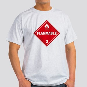 Red Flammable Warning Sign Light T-Shirt