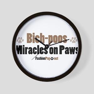 Bich-poo dog Wall Clock