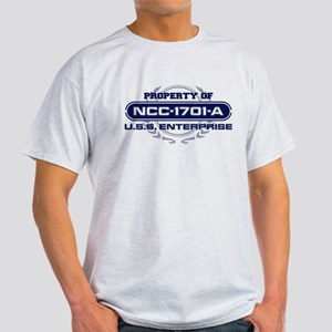 Property of USS Enterprise 1701-A (Blue) T-Shirt