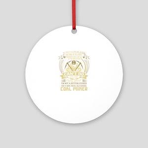 Coal Miner Accessories Round Ornament
