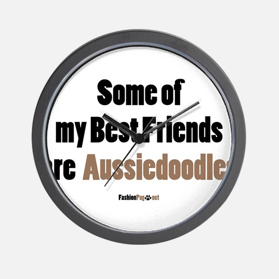 Aussiedoodle dog Wall Clock