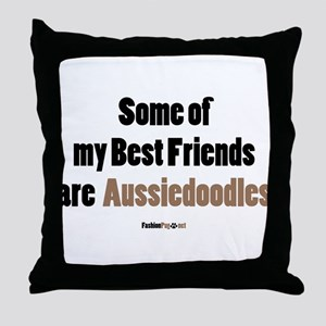 Aussiedoodle dog Throw Pillow