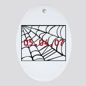 Spiderman Release Date Oval Ornament