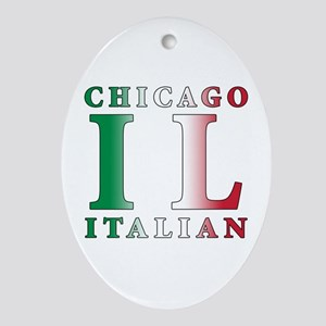 Chicago Italian Oval Ornament