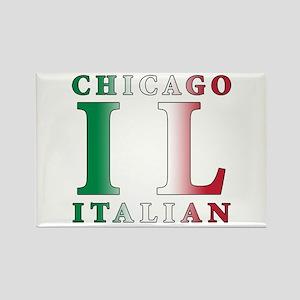 Chicago Italian Rectangle Magnet