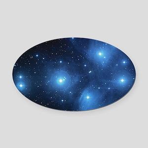 Sweet OM Pleiades blanket Oval Car Magnet