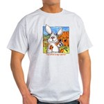Cute Cartoon Rabbit Ash Grey T-Shirt
