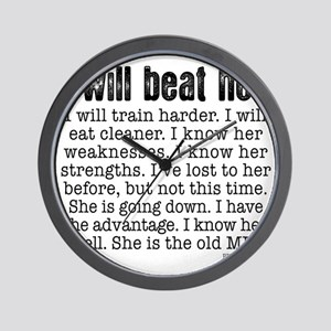 I Will Beat Her Wall Clock