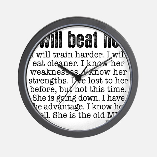 I Will Beat Her Wall Clock