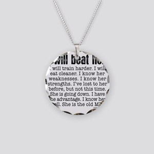 I Will Beat Her Necklace Circle Charm