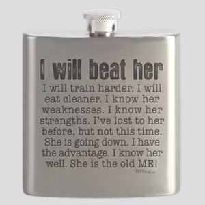 I Will Beat Her Flask