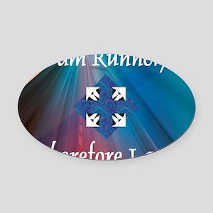 iamrunner1 Oval Car Magnet
