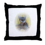 Abyssinian Cat Photo Throw Pillow