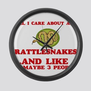 All I care about are Rattlesnakes Large Wall Clock
