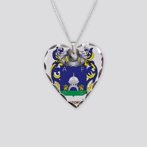 De Leo Coat of Arms Necklace Heart Charm