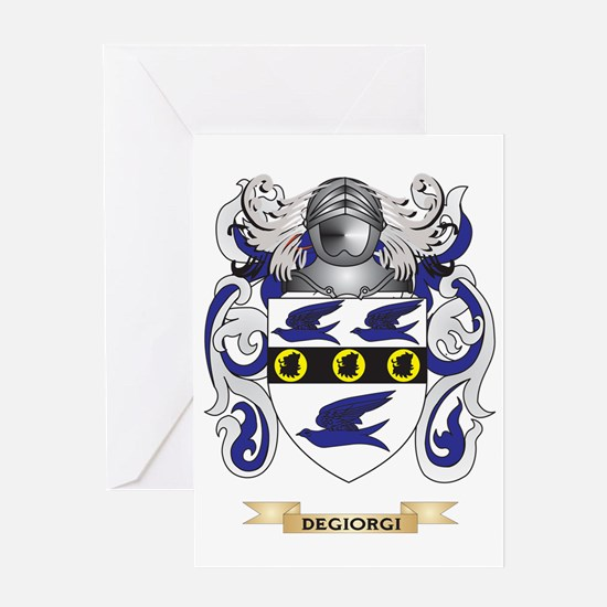 De Marini Coat of Arms Greeting Card