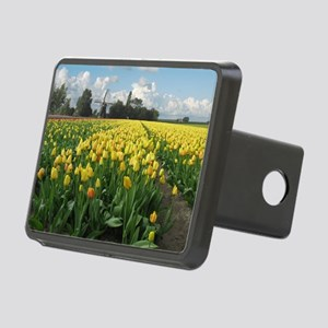 Dutch Windmill and Yellow  Rectangular Hitch Cover