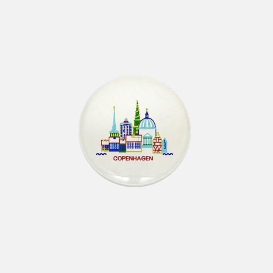 copenhagen Mini Button