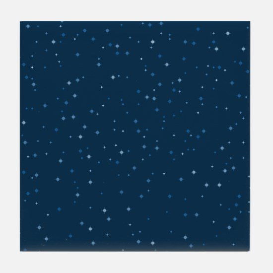 Stars At Night Tile Coaster