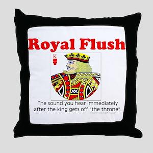 Royal Flush Definition Throw Pillow