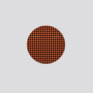 Houndstooth   Orange Mini Button