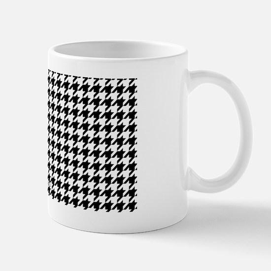 Houndstooth  White Mug