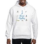 I Love Agility Hooded Sweatshirt