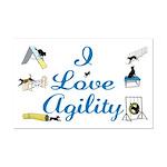 I Love Agility Mini Poster Print
