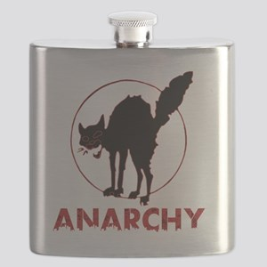 Anarchy - black cat Flask