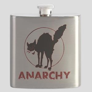 Anarchy - black cat Flask