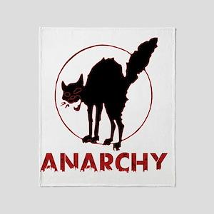 Anarchy - black cat Throw Blanket