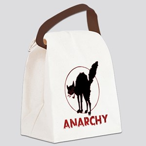 Anarchy - black cat Canvas Lunch Bag