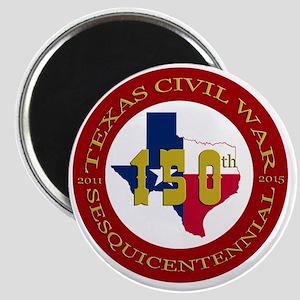 Texas Civil War Logo Magnet
