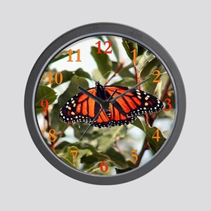 """Monarch Butterfly"" Wall Clock (with numbers)"