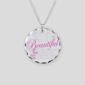 Fit Is Beautiful Necklace Circle Charm