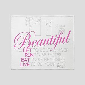 Fit Is Beautiful Throw Blanket