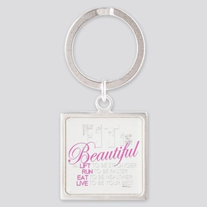 Fit Is Beautiful Square Keychain