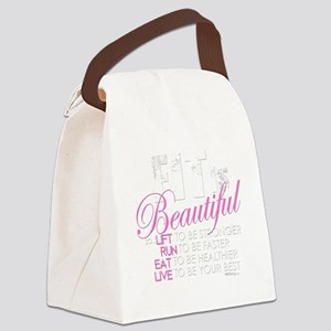 Fit Is Beautiful Canvas Lunch Bag