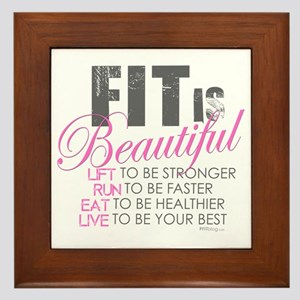 Fit is Beautiful Framed Tile