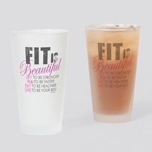 Fit is Beautiful Drinking Glass