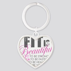 Fit is Beautiful Heart Keychain