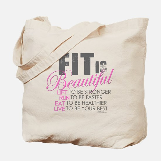 Fit is Beautiful Tote Bag