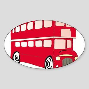 bus Oval Sticker