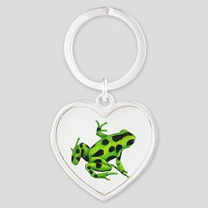 Green Dart Frog Heart Keychain