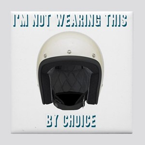 Im not wearing this helmet by choice Tile Coaster