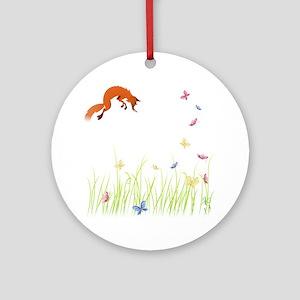 Fox Round Ornament