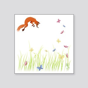 "Fox Square Sticker 3"" x 3"""