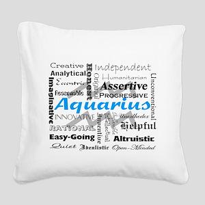 Aquarius Square Canvas Pillow